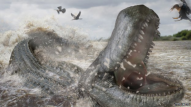 Prehistoric caiman's bite 'twice as strong' as T-Rex's ...