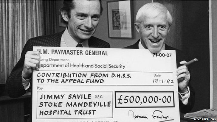 Jimmy Savile with Norman Fowler