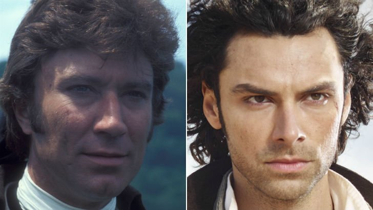 Robin Ellis and Aidan Turner as Ross Poldark