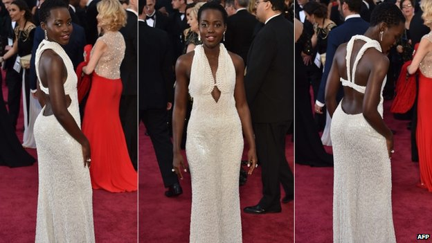 Lupita Nyong'o on the red carpet, 22 Feb