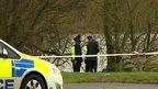 Police at river in Antrim