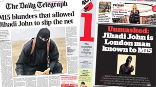 Composite image showing Daily Telegraph and i front pages