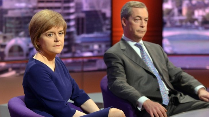 UKIP leader Nigel Farage and Scottish First Minister Nicola Sturgeon