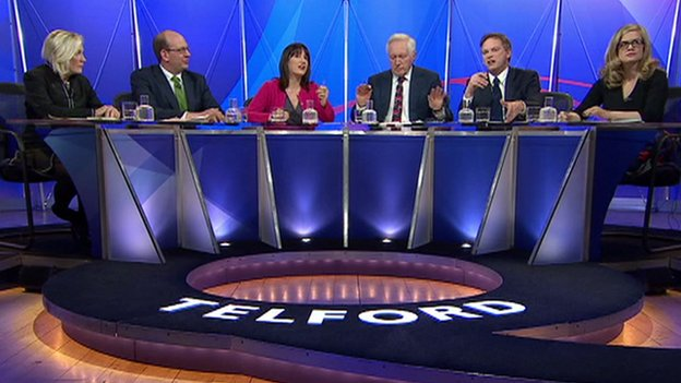 Panellists on Thursday's Question Time