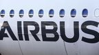 Airbus sign on plane