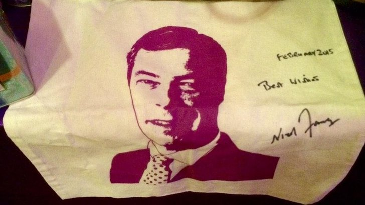 Nigel Farage tea towel