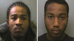 Tran West (l) and Christopher Longe convicted for drug offences