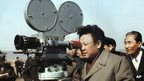 Kim Jong-Il on set