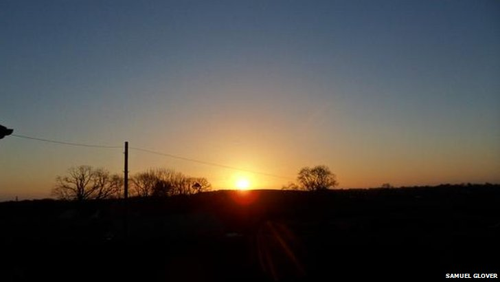 Sunrise in Saintfield