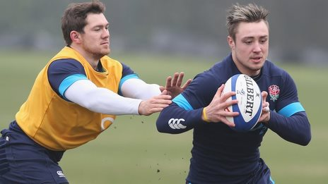 Alex Goode and Jack Nowell