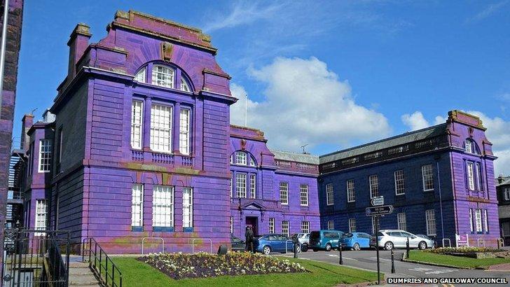 Council headquarters purple