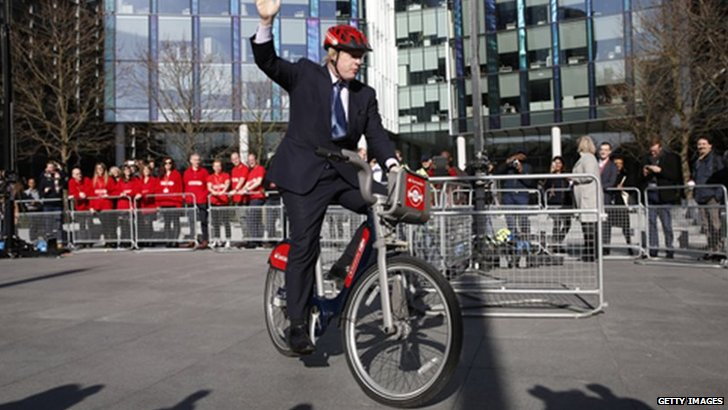 Boris on a bike