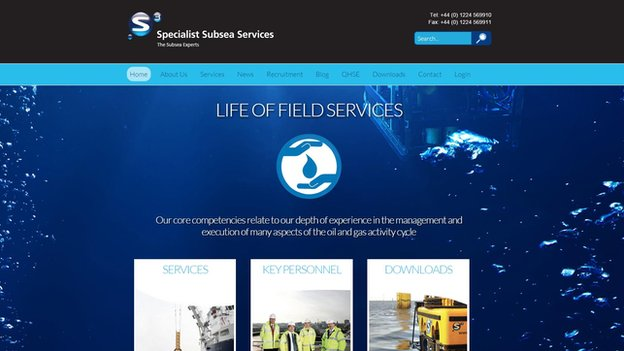 Subsea Specialist Services website