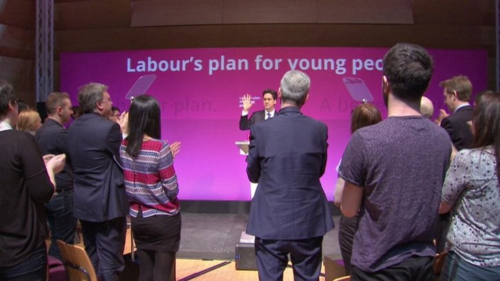 Labour audience on their feet