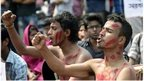 Bangladeshi social activists shout slogans during a protest against the killing of US blogger Avijit Roy in Dhaka on February 27