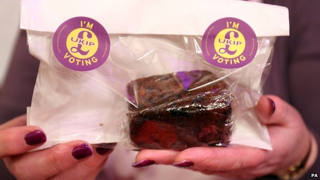 Cake for sale at UKIP conference