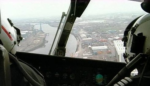 View from the police helicopter