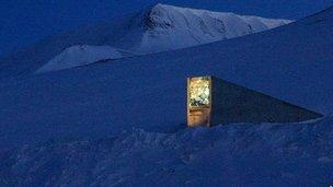 Seed vault entrance (Image: Global Crop Diversity Trust)