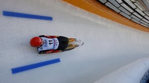 Aileen Frisch during the Luge World Cup qualification