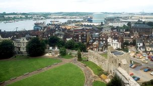 View from Rochester castle