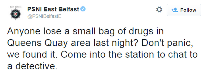 Drugs find East Belfast