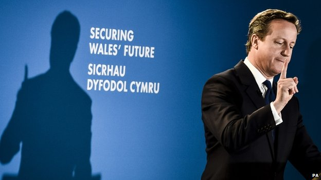 David Cameron speaking to the Welsh Conservative conference