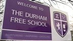 Durham Free School sign