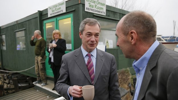 Nigel Farage with UKIP director of communications Paul Lambert