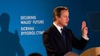 David Cameron addressing Welsh Conservatives Spring Conference