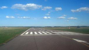 Runway at Inverness Airport