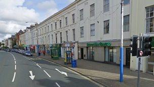 Google image of Prospect Terrace, Douglas Isle of Man