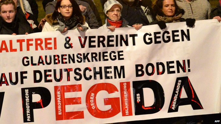Pegida demonstration in Germany