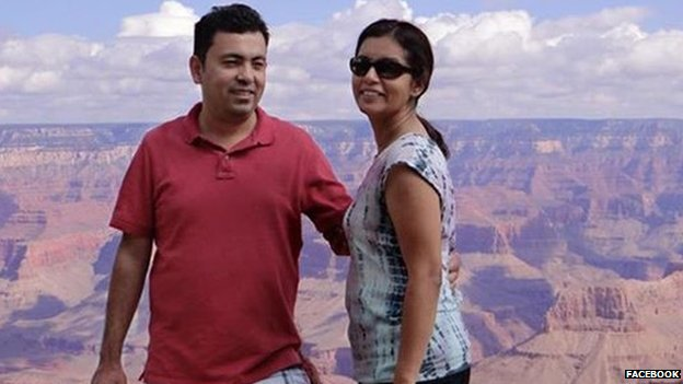 Writer Avijit Roy and his wife Rafida Ahmed, picture from Facebook