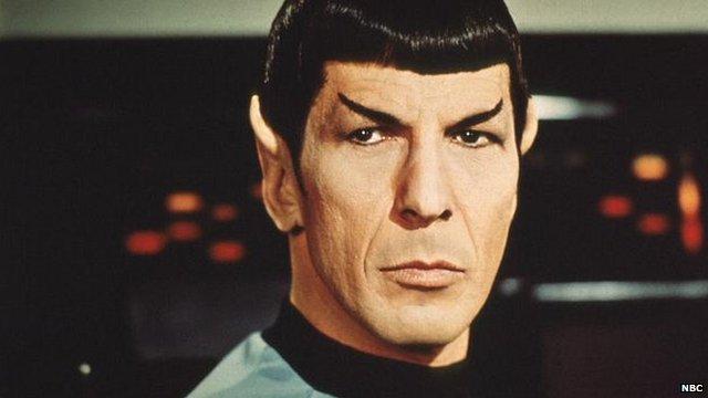 Actor Leonard Nimoy as Mr Spock in US TV science fiction series 'Star Trek'