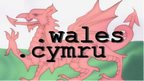 Welsh flag with .wales and .cymru