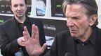 Leonard Nimoy at a film premier making his famous 'Mr Spock' salute