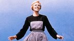 Julie Andrews on the set of The Sound of Music