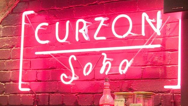 Curzon neon logo