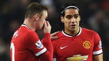 Wayne Rooney and Radamel Falcao