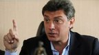 Boris Nemtsov in Moscow, 6 April 2009