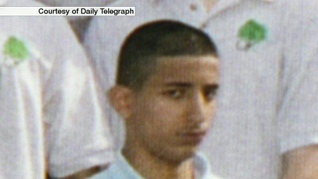 Mohammed Emwazi (Jihadi John), in a school year photo from 2004/5