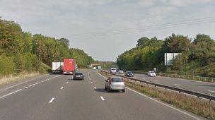 A46 at Leek Wootton in Warwickshire