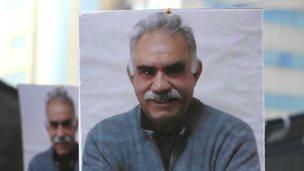 Abdullah Ocalan poster (file pic)