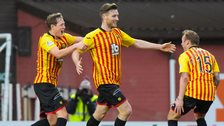Partick Thistle lead 2-0 at Tannadice