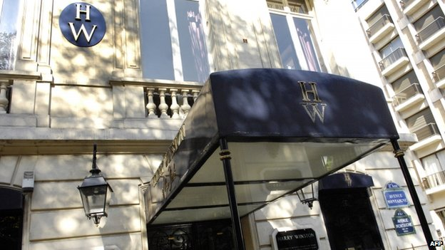 The Harry Winston boutique in Paris, file