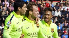 Luis Suarez, Ivan Rakitic and Neymar