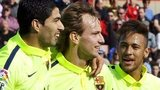 Luis Suarez, Ivan Rakitic and Neymar