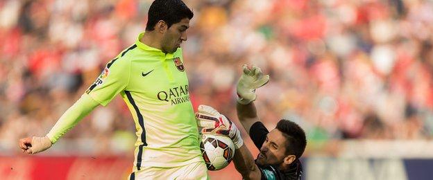 Oier Olazabal and Luis Suarez