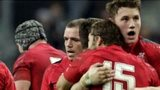 Wales' players celebrate