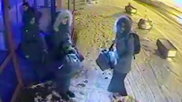 CCTV shows UK girls en route to Syria...